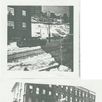 Image of Black-and-white photocopy of two street scenes in Hoboken, no date, ca. 1970-75. - Print, Photographic