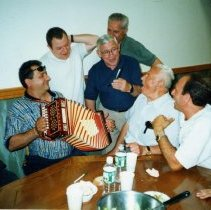 Image of Color photo of the interior of the Monte San Giacomo Democratic Club, Inc. at 531 Adams St., during a Museum visit, Hoboken, July 9, 2000. - Print, Photographic