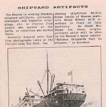 Image of B+W photo of the S.S. Ancon in drydock at the Bethlehem Steel Shipyard, Hoboken Division, 1933. - Print, photographic