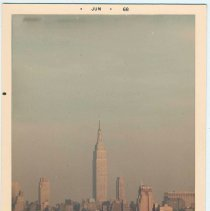 Image of Color photo of the New York City skyline with the Empire State Building probably taken from Weekhawken, June, 1968. - Print, Photographic
