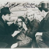 """Image of B+W photo of scene from """"On the Waterfront"""" signed by Karl Malden & Eva Marie Saint; with certificate of authenticity. - Print, photographic"""