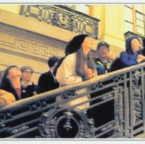 Image of Seven color digital photos of the Hoboken Terminal waiting room, near the end of its renovation, Hoboken, October 8, 1999. - Print, photographic