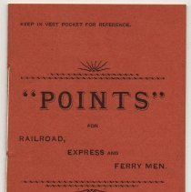 "Image of Booklet: ""Points"" for Railroad, Express and Ferry Men. Hoboken, 1891-1892. [Railroad Y.M.C.A.] - Booklet"