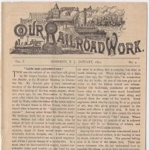 Image of Our Rail Road Work. Vol. I, No. 4, Jan. 1891. Published by the Rail Road Dept., Y.M.C.A., Hoboken, N.J. - Periodical