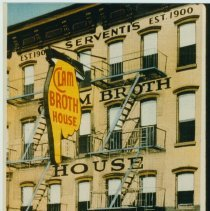 Image of Serventi's Clam Broth House),36-38 Newark Sts., postcard, copy print