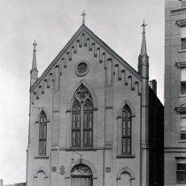 Image of B+W photo of German Methodist Church, Garden St. between 1st & 2nd Sts., ca. 1933. - Negative, Film
