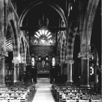 Image of B+W photo of the interior of the Church of the Holy Innocents, Willow Ave. & 6th St., ca. 1920's. - Negative, Film