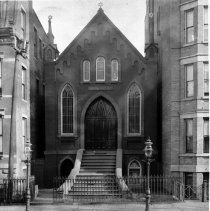 Image of B+W photo of Temple Adath Emuno, Garden St. between 6th & 7th Sts., ca. 1910-1920. - Negative, Film