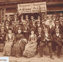 Image of B+W group photo of a Quartett Club outing, possibly in Baltimore, no date, ca. 1890-1900. - Negative, Film