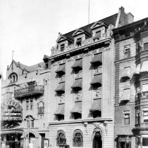 Image of B+W photo of the Elks Club and the Gayety Theatre on Washington St. between 10th & 11th Sts., 1914. - Negative, Sheet Film