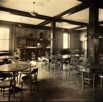 Image of Sepia-tone photo of an unidentified bar, Hoboken, no date, ca. 1920. - Print, Photographic