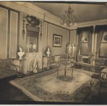 Image of Black-and-white photo of former Gold Room, Union Club interior, 600 Hudson St., Hoboken, no date, ca. 1935-1940. - Print, Photographic