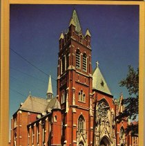 Image of Commemorative book from Our Lady of Grace Church Centennial, Hoboken, 1976. - Program