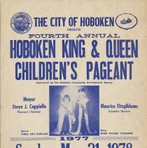 Image of Poster for the Fourth Annual Hoboken King & Queen Children's Pageant, Hoboken, 1978. - Poster