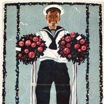 "Image of Ocean liner advertising poster, 11"" x 17"" for Norddeutscher Lloyd Bremen pre-WWI. - Poster"