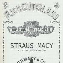 Image of Straus-Macy Rich Cut Glass Catalog. - Book