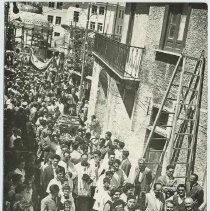 Image of Postcard with scenes of Monte San Giacomo, Italy and feasts celebrating St. Ann & St. James the apostle, ca. 1960. - Postcard