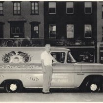 Image of William Kirchgessner with United Decorating Co. truck