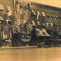 Image of Sepia-tone photo of United Decorating Co., 421 Washington St., Hoboken, on its 25th anniversary, Sept. 7, 1924. - Print, Photographic