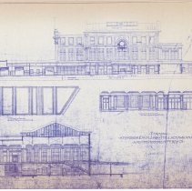Image of blue line print