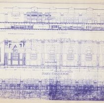 Image of blue line print