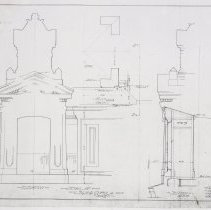 Image of Detail of Sign and Cupola. Lackawanna R.R.Terminal & Hoboken Ferry Co. No. 301.5. Jan. 15, 1906. Kodalith photostatic copy. - Drawing, Architectural