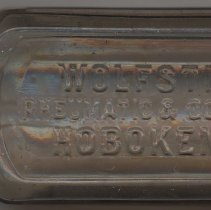 Image of Bottle, patent medicine : Wolfstirn's Rhuematic & Gout Remedy, Hoboken, N.J. No date, circa 1880-1900. - Bottle