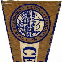 Image of Pennant  from the 1955 City of Hoboken Centennial celebration, Hoboken, [1955]. - Pennant