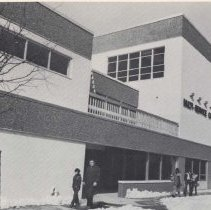 Image of Reference images of 2 printed photo images of Multi-Service Community Center from pg 24 of archives catalog 2002.026.0002, Hoboken, ca. 1975. - Print, Photographic