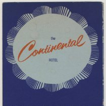 Image of Brochure for the Continental Hotel, Hoboken, ca. 1956-61. - Brochure