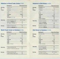 Image of detail Hoboken schedule