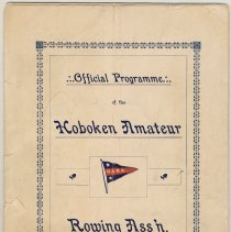 Image of Official program of the Hoboken Amateur Rowing Assn., 4th Annual Regatta, Aug. 2, 1902. - Program