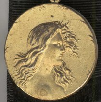 Image of detail front of medal