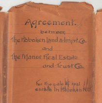 Image of Agreement Between the Hoboken Land & Improvement Co. and The Manor Real Estate & Trust Co., 1899. - Contract