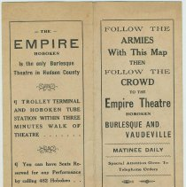 Image of Pamphlet for the Empire Theatre, Hoboken, n.d. (ca. 1916-1918.) - Pamphlet