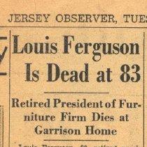 Image of Ferguson obituary, partial
