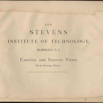 Image of The Stevens Institute of Technology, Hoboken, N.J. Exterior and Interior Views By the Phototype Process. - Book