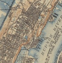 Image of map detail of Hoboken showing water / marshland