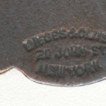 Image of detail reverse makers mark
