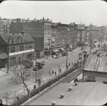 Image of B+W copy photo of photo of River Street looking north from 1st Street, Hoboken, 1917. - Print, Photographic