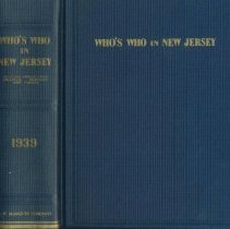 Image of Who's Who in New Jersey. Volume I. 1939. - Book