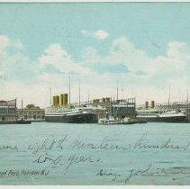 Image of Postcard: North German Lloyd Piers, Hoboken N.J. No date, ca. 1906. - Postcard