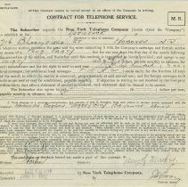 Image of Contract for telephone service by the New York Telephone Company and Mary H. Markey, 716 Bloomfield St., Hoboken, N.J., 1911. - Contract