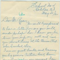Image of Letter from Rose Guinan to John Ryan, May 20, 1920. With reply and envelope. - Letter