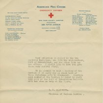Image of Form letter announcement from the American Red Cross, Emergency Canteen. Ca. 1919. With 2 bulletins concerning canteen activities. - Letter