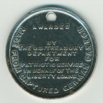 Image of obverse: Made from Captured German Cannon
