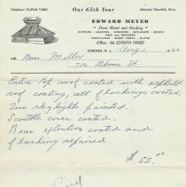 Image of receipt 3 Meyer 1963