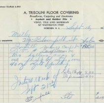 Image of receipt 4 Trisolini 1964
