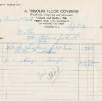 Image of Five receipts for goods or services performed by various tradespeople at 716 Bloomfield St., Hoboken, 1961-1964. - Receipt