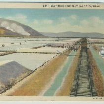 Image of Postcard from Salt Lake City sent to Madeline Miller, 716 Bloomfield St., Hoboken, 1935. - Postcard